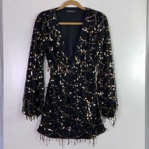 PrettyLittleThing I Falling Sequins Mini Dress